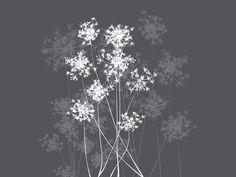Dandelion Grey - Fototapeter & Tapeter - Photowall