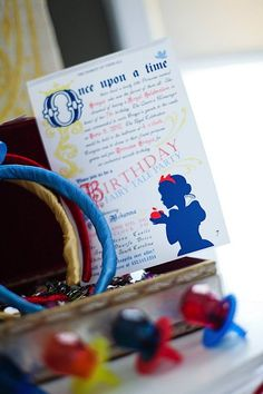 Snow White Birthday Party Favors