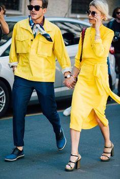 Yellow | Milan Fashion Week Men's Street Style | British Vogue