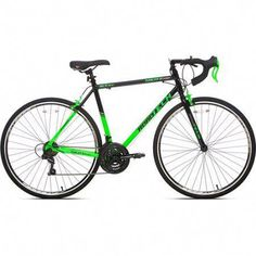 700c Men S Kent Roadtech Road Bike Green Black Walmart Com