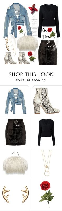 """""""On Fire"""" by felicitysparks ❤ liked on Polyvore featuring Jonathan Simkhai, Strategia, Yves Saint Laurent, Dolce&Gabbana and Kate Spade"""