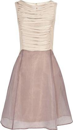 Pretty teen flower girl dress... Reiss Ribbon Technique Double Skirt Dress in Pink (nude) - Lyst