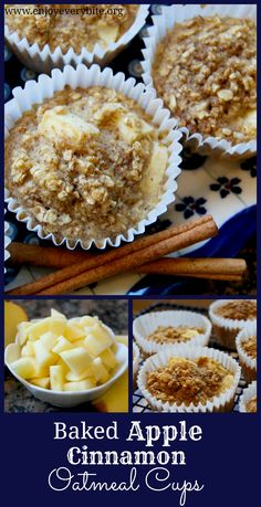 Healthy and delicious baked oatmeal cups. Perfect for breakfast or snacks!