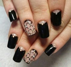 50 black nail art designs matte nail colors matte nail art and 50 unique nail art designs 2016 style you 7 some really awesome ideas love the ring fingernails on this one prinsesfo Gallery