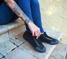 Timeless Expression #Feiyue  Pictured: Fe Lo Vintage, black Feiyue-shoes.com