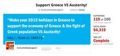 """20-26 giugno: la Settimana di azione """"con i greci contro l'austerità"""""""
