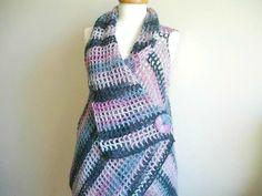 Mohair Vest By Crochetlab Asymmetric Vest Design by crochetlab