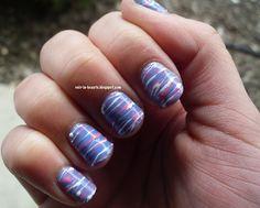 Cotton Candy Nail Art / Spun Sugar Nail Art