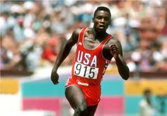 Uber cool (still) Carl Lewis...Olympic athletic champion with a total of 10 medals - 9 are gold.