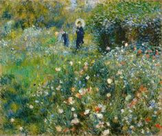 """""""Frau mit Sonnenschirm in einem Garten"""" von Auguste Renoir - 1875 (Städel Museum Frankfurt am Main 01.06.2015)"""