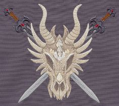 Dragon Skull   Urban Threads: Unique and Awesome Embroidery Designs
