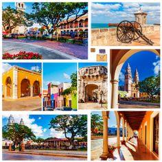 Imágenes de #Campeche, sitio para caminarlo, fotografiarlo y disfrutarlo al 100 por ciento. Historia y cultura en cada metro cuadrado de este poblado de #Mexico. http://www.bestday.com.mx/Campeche/ReservaHoteles/