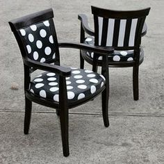 Recovering chairs is an easy way to create a brand new look