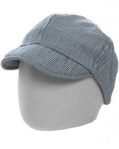 Mütze ISOL mit Schirm gestreift true navy