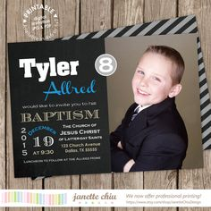 Check out this item in my Etsy shop https://www.etsy.com/listing/260715045/lds-baptism-photo-invitation-digital