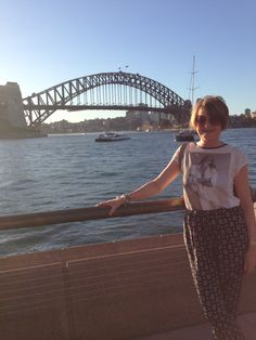 Me with Sydney Harbour Bridge in the background