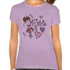 Love Ballet Tee Shirt  Find lots of other kids gifts and apparel at http://www.zazzle.com/toddlersplace?rf=238785193994622463