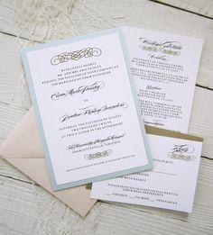 Baroque Wedding Invitations  Vintage Glamour by RiverCityStudio, $100.00