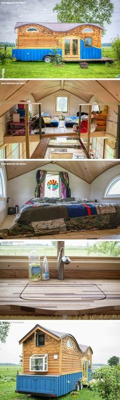 The Pequod tiny house, a 208 sq ft hme shared by a family of 4