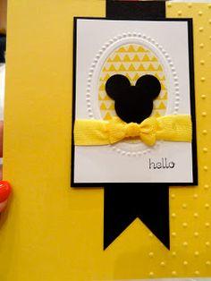 Hello - Mickey card