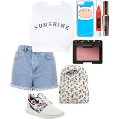 Без названия #14 by veronikimiki on Polyvore featuring polyvore, мода, style, Wildfox, Topshop, NIKE, Vans, CellPowerCases, NARS Cosmetics, Benefit and Beauty Rush