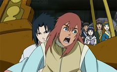 Naruto has a girlfriend in the movie then sasuke shows up like