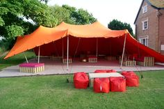Stretch tents create a great party vibe