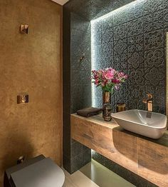 Dsc design: badezimmer von andréa buratto architecture & decoration - Noora A. Beautiful Bathrooms, Modern Bathroom, Small Bathroom, Bathroom Ideas, Half Bathrooms, Bathroom Spa, Bathroom Layout, Bathroom Designs, Bad Inspiration