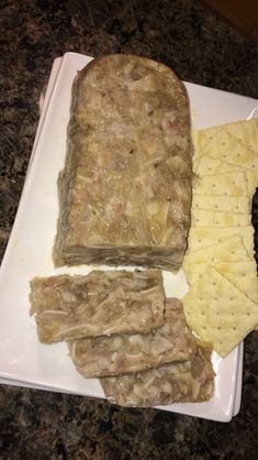 Pig Feet and Hog Souse Homemade Sausage Recipes, Hot Dog Recipes, Amish Recipes, Meat Recipes, Souse Meat Recipe, Scrapple Recipe, Hog Head Cheese Recipe, Pig Feet Recipe, Grilled Cheese Hot Dog