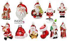 Christbaumschmuck Weihnachtsmann Figuren Glas Anhänger Weihnachtsbaumschmuck | eBay