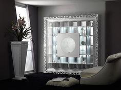 Mobile bar barocco bianco lucido Tavolino contenitore barocco argento ...