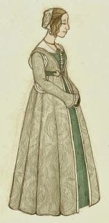 Festive Attyre late 15th century Florentine dress diary (based on a Ghirlandaio painting)