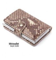 Secrid Miniwallet taupe snake