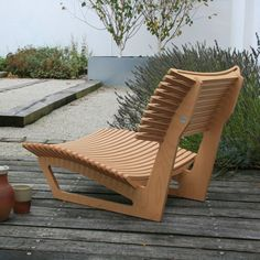 Sprung seat and back rest battens and legs in birch plywood, with hardwax oil finish. Size (mm): 4 weeks if not in stock. (This product Plywood Furniture, Furniture Design, Outdoor Furniture, Cnc Wood, Stool Chair, Furniture Inspiration, Furniture Making, Woodworking Plans, Cnc Router