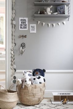love these storage baskets for a kids room