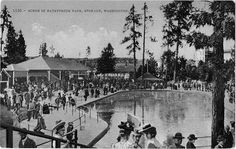 Spokane's Natatorium Park - Shoot the Chutes. This postcard is marked July 7, 1911.