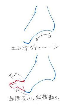 魅力的な足の描き方。正面・側面の描き方や指を描くコツを伝授|お絵かき図鑑 Hand Reference, Drawing Reference Poses, Anatomy Reference, Drawing Tips, Art Drawings Sketches, Spell Circle, Japanese Eyes, Figure Drawing Tutorial, Sketch Poses