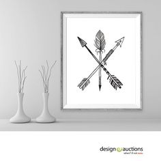 Printable art 3 arrows tribal art minimalist art home decor wall decor rustic digital art