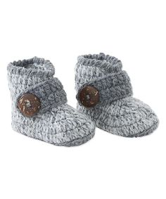 Gray Knit Booties