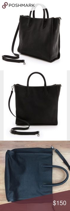 "Madewell Estate Tote Black leather tote in excellent condition- very minimal wear. No marks, stains or tears. 13 x 16 x 5"". Removable and adjustable strap. This bag is perfect for any occasion! Madewell Bags Totes"