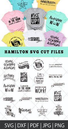 Hamilton Shirt, Hamilton Quotes, Star Wars Design, Cricut Craft Room, Silhouette Cameo Projects, Cricut Creations, Vinyl Projects, Get The Job, Svg Cuts