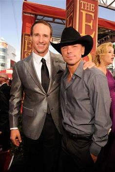 2012 ESPY Awards, NFL Player Drew Brees of the New Orleans Saints and singer Kenny Chesney,