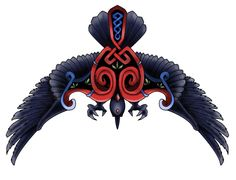 It's just what it is, a tatoo of a crow. (with some celtic ornaments on) Crow celtic tatoo Backpiece Tattoo, Raven Tattoo, Norse Tattoo, Tattoo Art, Flock Of Crows, Crows Ravens, Celtic Raven, Celtic Art, Irish Tattoos