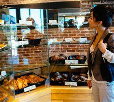 LEMAYMICHAUD   INTERIOR DESIGN   ARCHITECTURE   QUEBEC   Mamie Clafoutis   Restaurant   Bakery Restaurants, Restaurant Bar, Architecture, Design, Arquitetura, Restaurant, Architecture Design