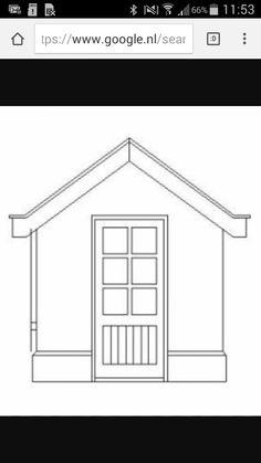 Deze tekening heb ik gebruikt voor het huisje,maar ik heb er wel een raam bij op gedaan.