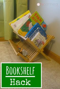 Bookshelf Hack, Great for home or a classroom! - Pink Oatmeal