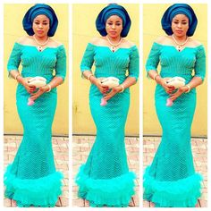 Beautiful Aso Ebi Lace : Long Gown http://www.dezangozone.com/2016/07/beautiful-aso-ebi-lace-long-gown.html