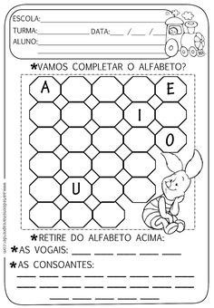 Atividade pronta - Alfabeto, vogais e consoantes