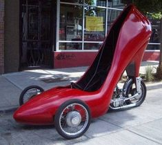 STILETTO...Sleek, sophisticated, and somewhat aerodynamic, this stiletto-mobile is a classic.