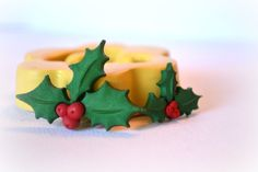 0584 holly berries and leaves for winter or by MasterMolds on Etsy
